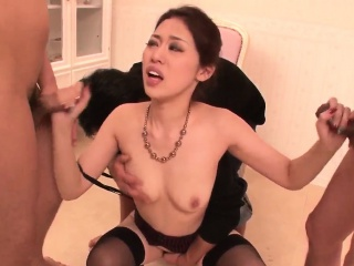 Ann Yabuki smashing scenes of severe group sex
