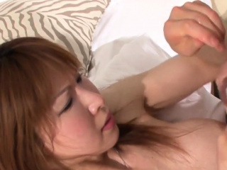 Japanese ladyboy drilled after sucking