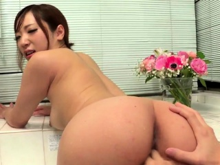 Nude Riko Satsuki delights with cock in the bathroom  -