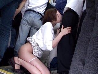Yuu Shinoda, Yuka Kojima, ASUKA 2, Yuna Shiratori in Frustrated Housewife on the Bus 1 part 2
