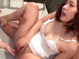 Incredible Japanese slut in Fabulous Dildos/Toys, Threesomes JAV movie