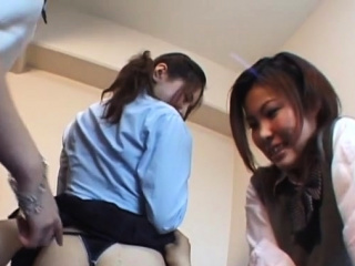 Japanese playgirl goes down on knob with deepthroat blowjob
