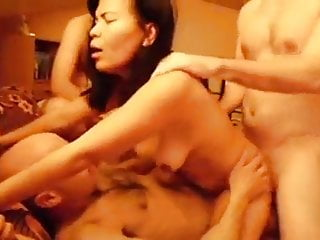 Aged Bastards Hire an Oriental Whore for Gangbang inside a