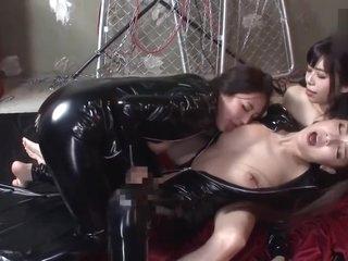 Japanese Lesbian tongue Kissing