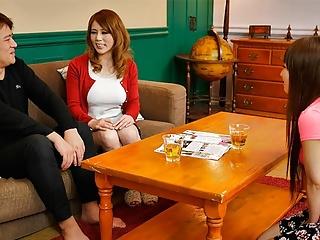 Japanese honey, Maki Koizumi fucks a friend, uncensored