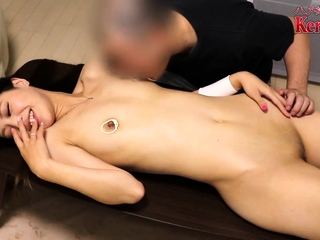 This Asian Chick Gives Her Small Pussy A Workout