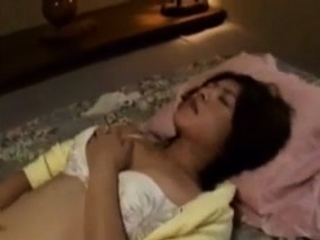 Horny Spying My Asian Japanese Stepmom Masturbating