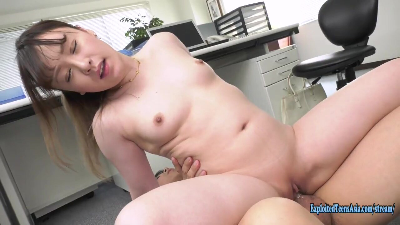 Jav Office Girl Kusanagi Fucks Uncensored Shaved Pussy Chubby Ass Done On Desk And Floor