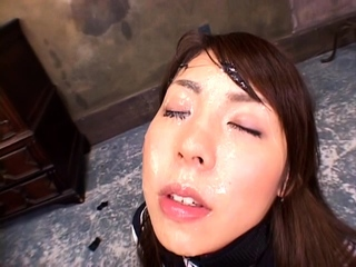 Japanese slut maria asagiri gives pov blowjob with facial