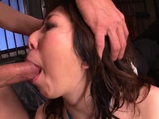 Chubby girl, Kaoru Hirayama sucks dick like a real pro