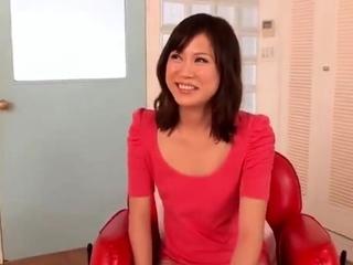 Asian tart hairy pussy toying