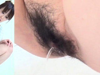 Hairy pussy asians pee