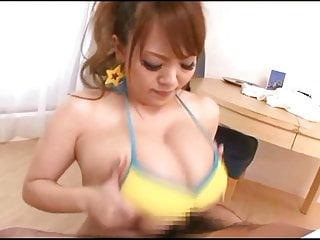 Japanese big tits titfuck
