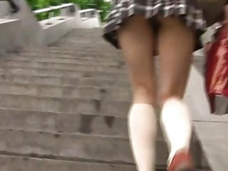 Japanese teen pantieless upskirt