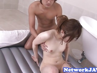 Alluring asian babe oiledup and fucked