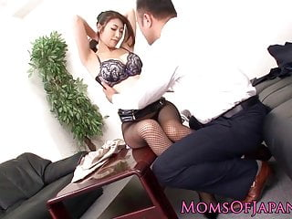 Japanese milf fucked at the office