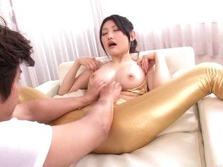 Exotic Japanese chick Azumi Mizushima in Incredible JAV censored Swallow, Hairy clip