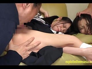 Petite Yazawa Miya Ambushed On The Couch Mum Made To Watch As She's Fucked Hard Gets Creampie