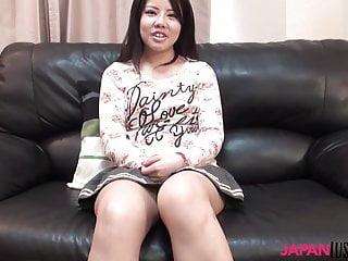 Chubby Japanese Manami Sasaki taking raw dick