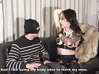 Japanese Femdom Youko Armpit Sniffing and Slave Drinking Her