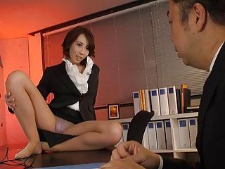 Japanese office lady Aya Kisaki had sex, uncensored