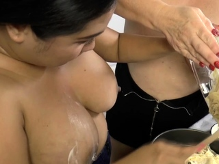 Cake batter covered gran gets pussy toyed