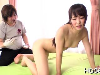 Captivating girl Ai Mizushima caresses fat tool