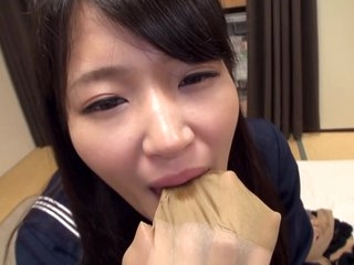 Mari Kagami - God Pantyhose Kaga Mimari Uniform Lolita Beautiful Raw Pantyhose Wrapped