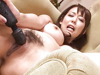 Busty Akari Asagiri Fucks Herself With Sex Toys
