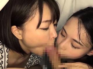 Teen slut has a big cock blowjob