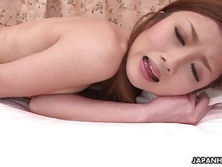 Tender Japanese beauty loves to play with her wet pussy