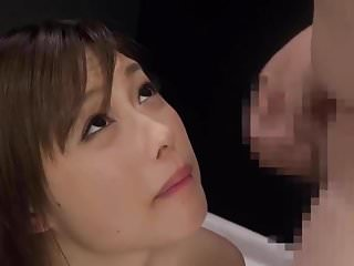 Beautiful Japanese splattered in cum